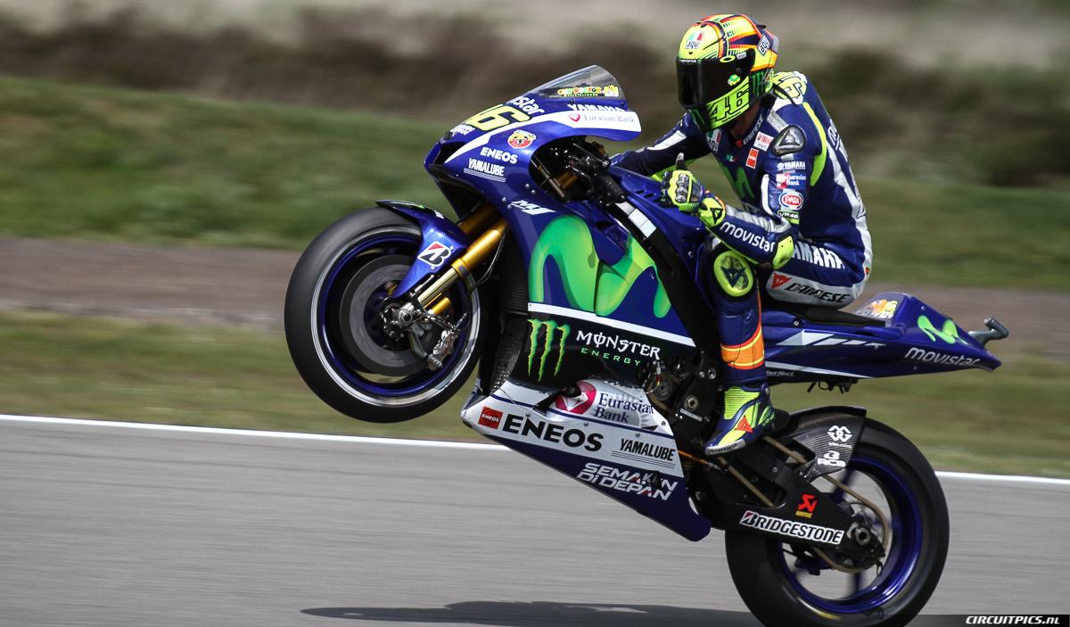 Valentino Rossi - TT Assen 2015 - Wheelie - The Doctor - Vale46